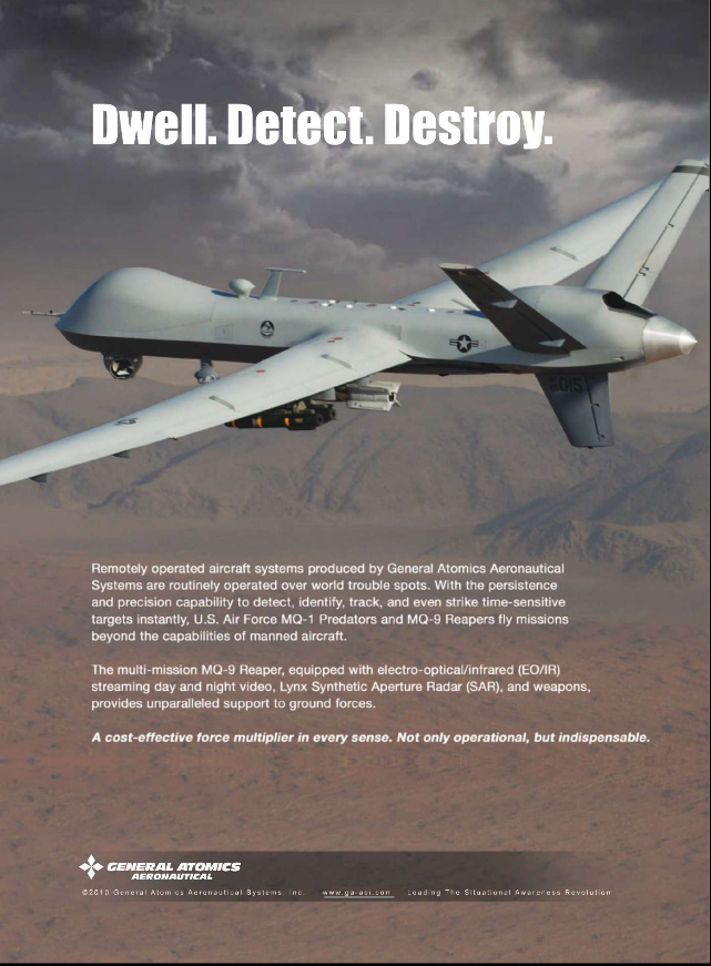 """Dwell. Detect. Destroy"": A General Dynamics Advert for its Armed 'Predator' Drone"