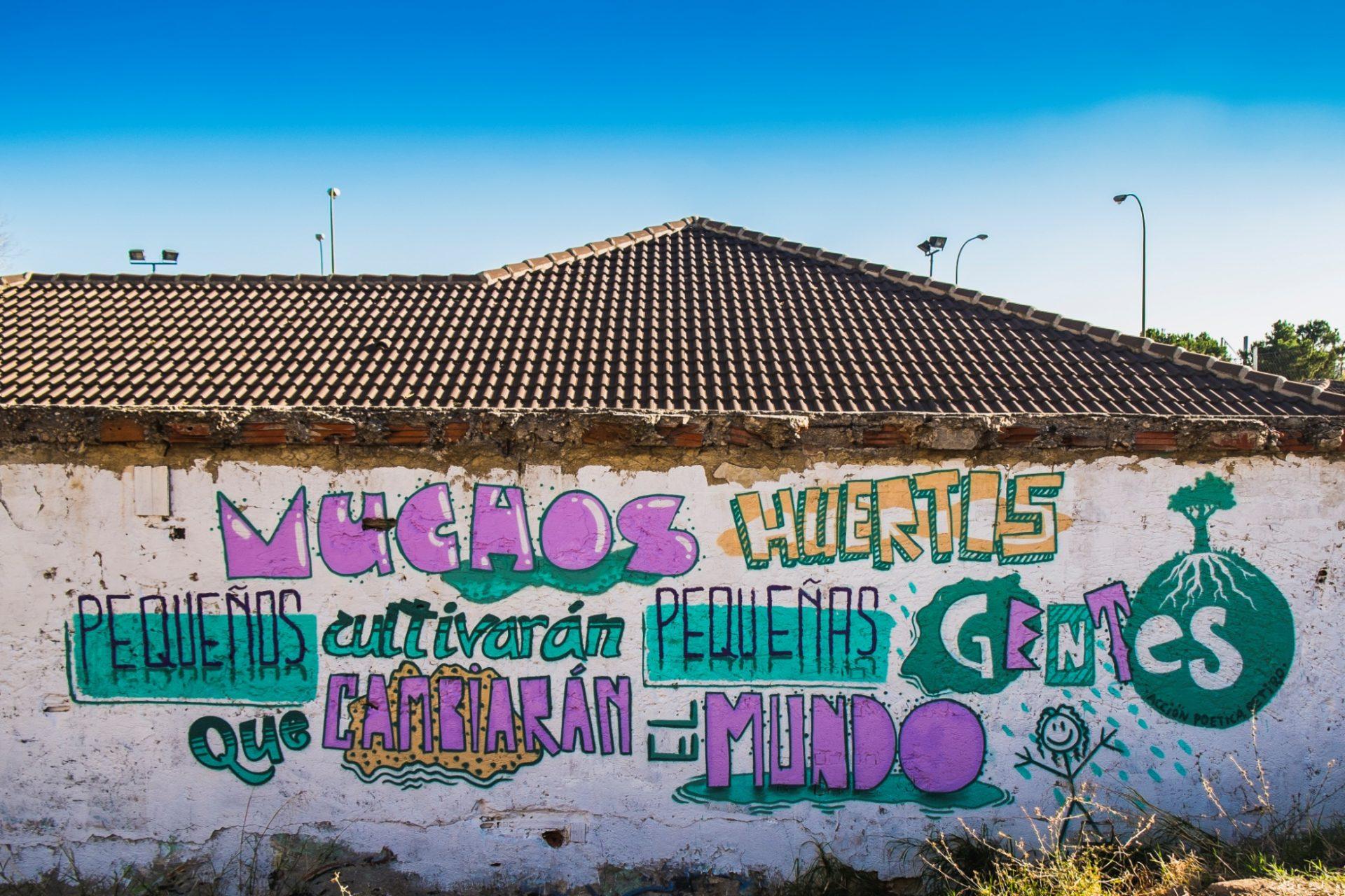 Mural of Adelfas community garden. Credit: Alberto del Rio
