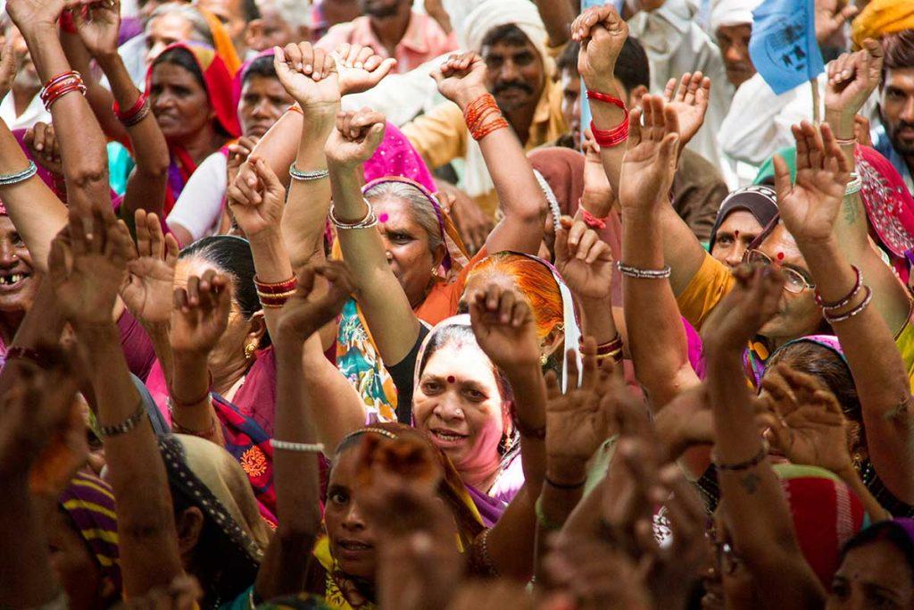 Women protesting the Narmada Dam. Credit: Joe Athialy
