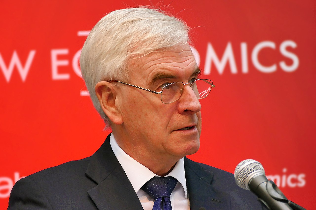 John McDonnell giving a speech in Preston on Labour's 'New Economics' programme in February 2018. Credit: Sophie Brown/Wikimedia | CC-BY-SA-4.0