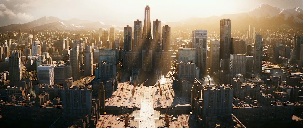 Skyline of the imagined Panem's Capitol. Source: http://breadandcircuses.wikia.com