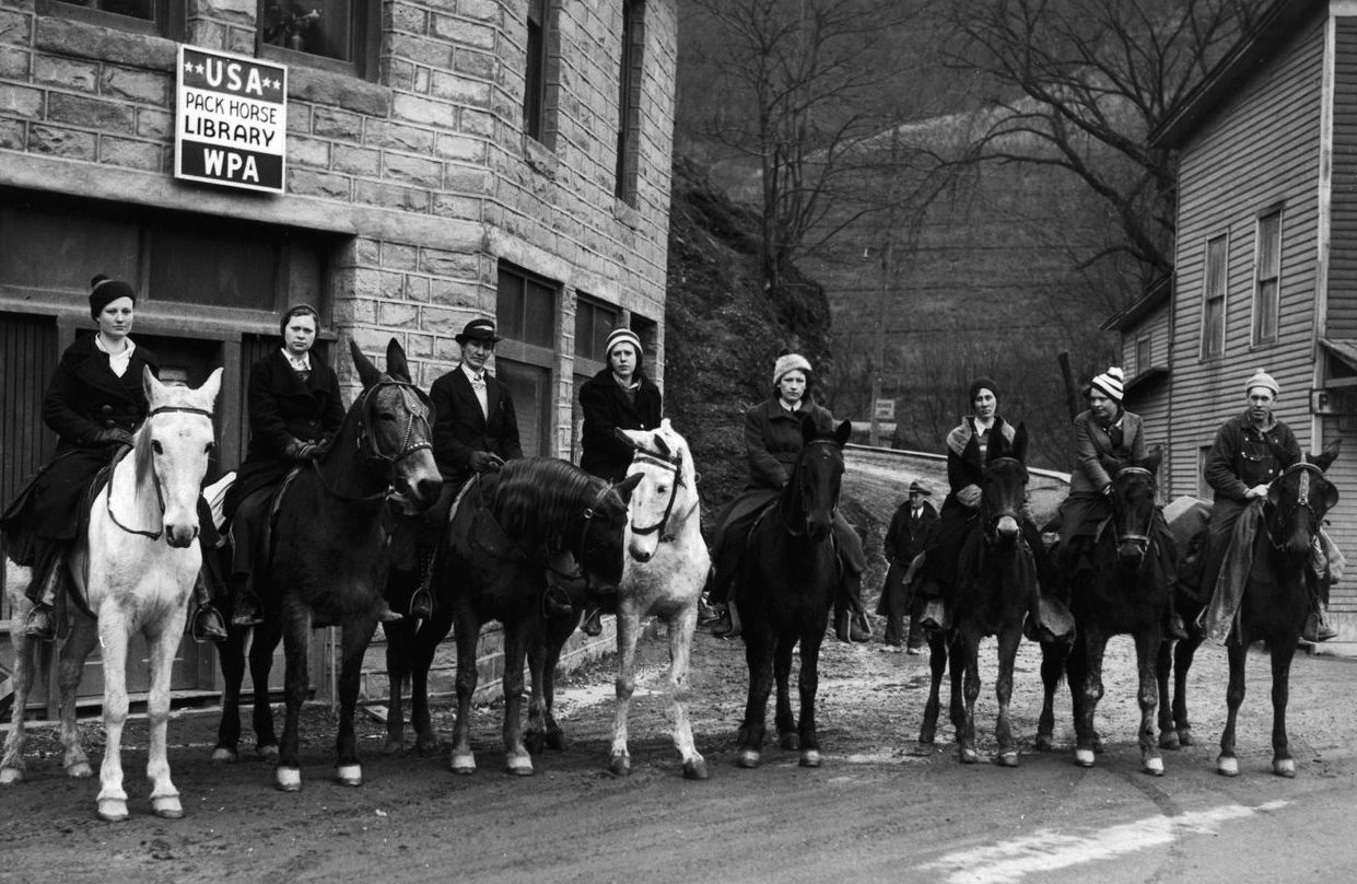 WPA packhorse librarians, ready to deliver books and other materials to remote rural areas in Kentucky, 1938. Photo courtesy of the National Archives.