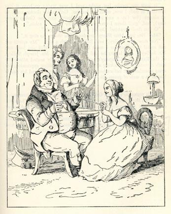 Ilustración de 1848 de La feria de las vanidades, de William Makepeace Thackeray [Wikimedia Commons].