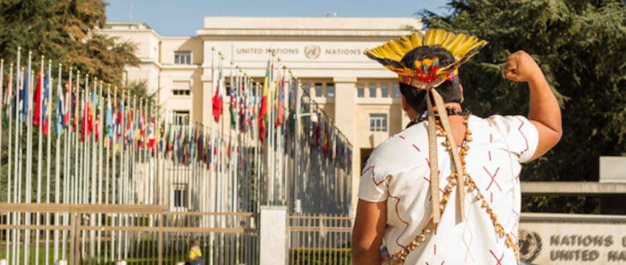 Palace des Nations, Geneva. Credit: Victor Barro/Friends of the Earth International